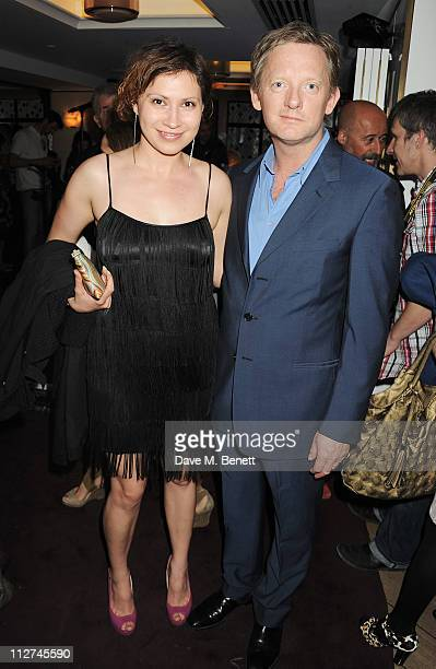 Playwright Tena Stivicic and actor Douglas Henshall attend A Night with Jennifer Hudson at The Club at The Ivy to celebrate the release of her new...