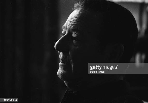 Playwright Terence Rattigan interviewed for the BBC broadcast of his film 'The Winslow Boy', June 1973.