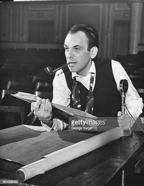 Playwrighter Moss Hart directing his play Winged Victory