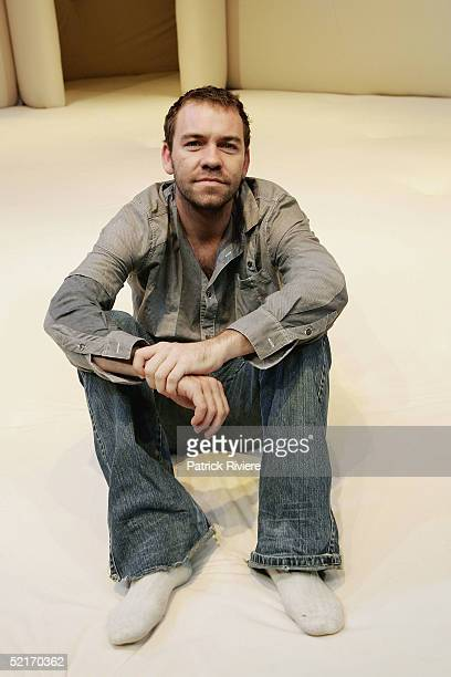 Playwrighter/director Brendan Cowell poses on the set after the photo call of Bed at Sydney Theatre Company's Wharf 2 Blueprints February 10 2005 in...