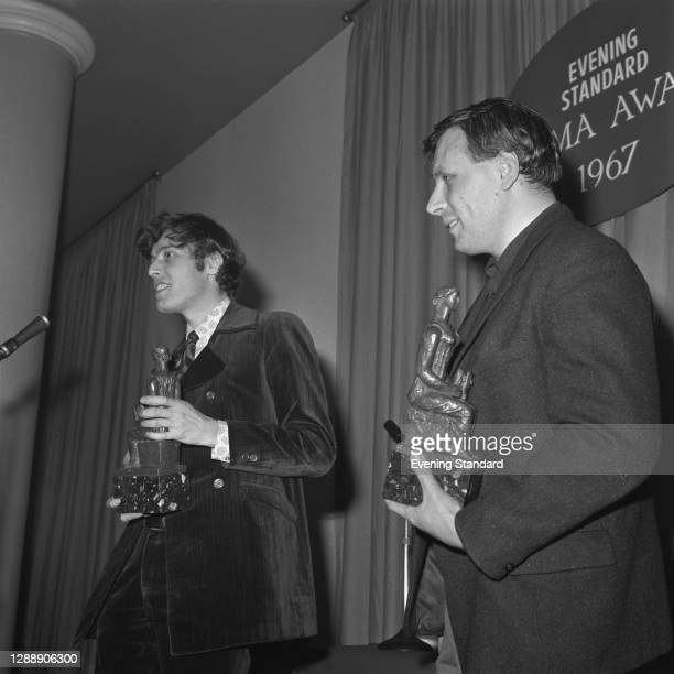Playwrights Tom Stoppard and David Storey win the Most Promising Playwright award at the Evening Standard Theatre Awards for 1967, London, UK, 16th...