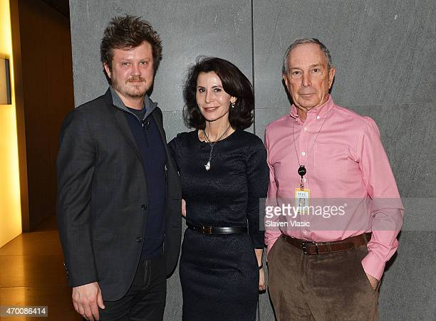 Playwright/screenwriter Beau Willimon Katherine Oliver Principal at Bloomberg Associates and Michael Bloomberg attend Bloomberg Breakfast during the...