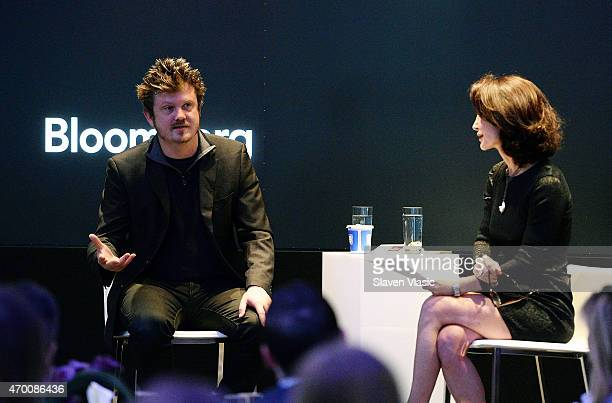 Playwright/screenwriter Beau Willimon talks to mediator Katherine Oliver Principal at Bloomberg Associates at Bloomberg Breakfast during the 2015...