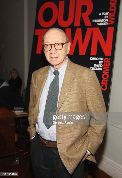 Playwright/screenwriter Neil Simon attends the opening night of Our Town at the Barrow Street Theatre on February 26 2009 in New York City