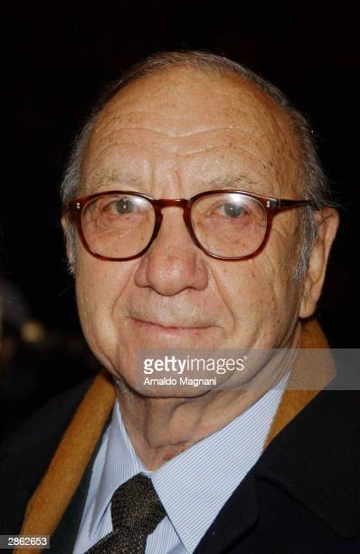 Playwrite Neil Simon arrives at the special screening of The Goodbye Girl January 12 2004 in New York
