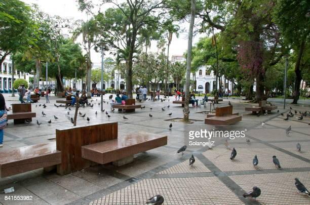 plaza 24 de septiembre en santa cruz de la sierra bolivia - santa cruz de la sierra bolivia fotografías e imágenes de stock