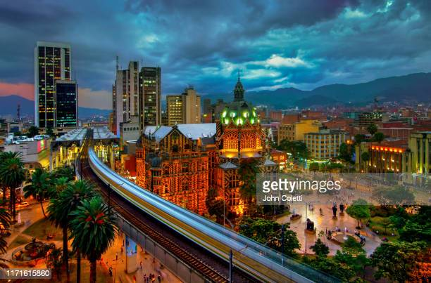plaza botero, medellin, colombia - colombia stock pictures, royalty-free photos & images