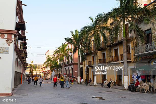 plaza constitucion veracruz port - veracruz stock pictures, royalty-free photos & images
