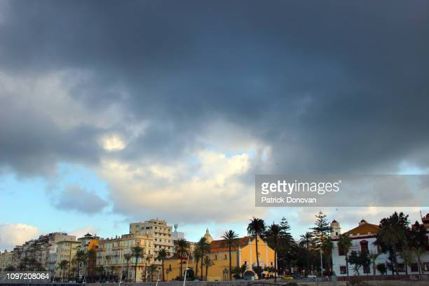 plaza de africa and skyline, ceuta, spain - ceuta fotografías e imágenes de stock