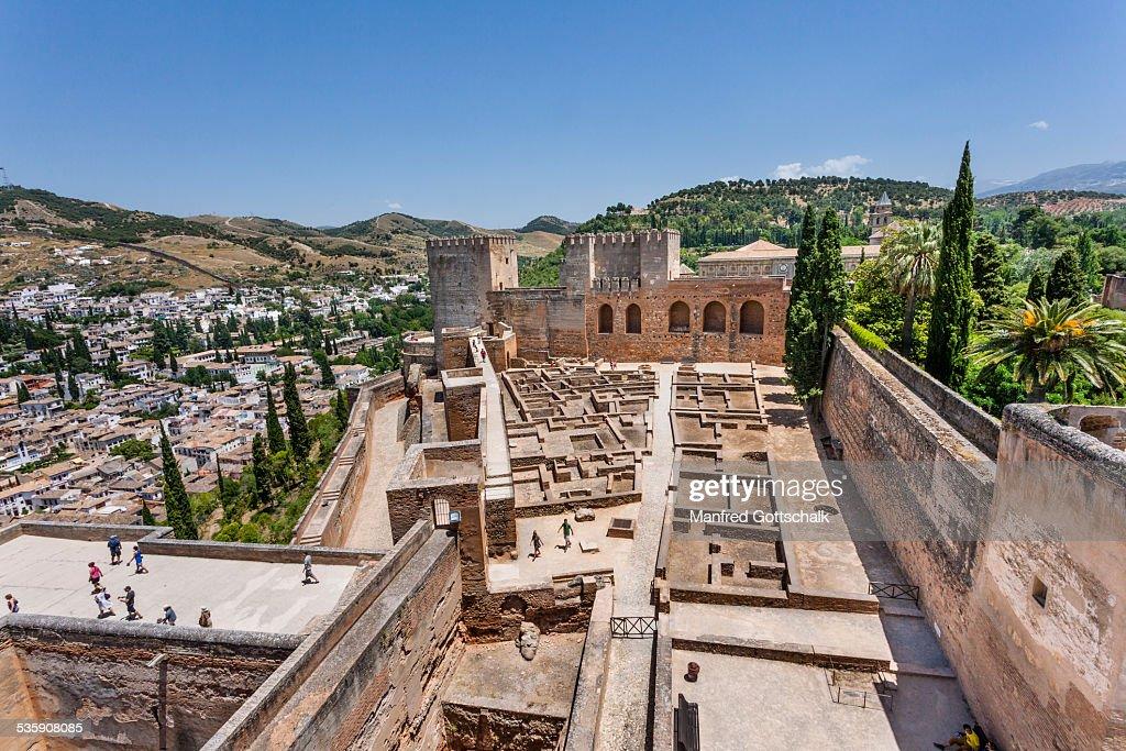 Plaza de Armas Alcazaba Granada : Stock-Foto