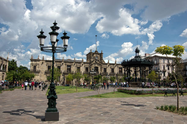 Plaza de Armas and Government Palace of the State of Jalisco (Palacio de Gobierno del Estado de Jalisco), Guadalajara, Jalisco, Mexico
