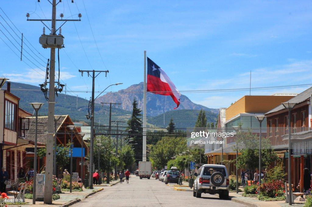 Plaza de Armas, Coyhaique, Patagonian Chile : Stock-Foto