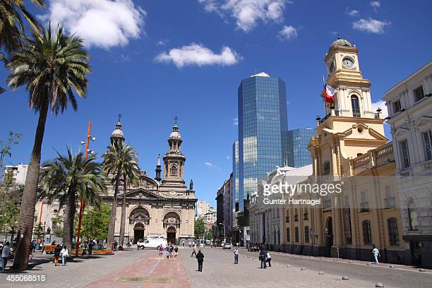 plaza de armas - santiago região metropolitana de santiago - fotografias e filmes do acervo