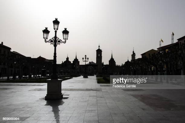 plaza de cervantes - alcalá de henares - alcala de henares stock pictures, royalty-free photos & images