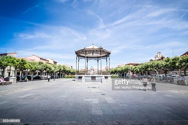 plaza de cervantes de alcala. unesco whs - alcala de henares stock pictures, royalty-free photos & images