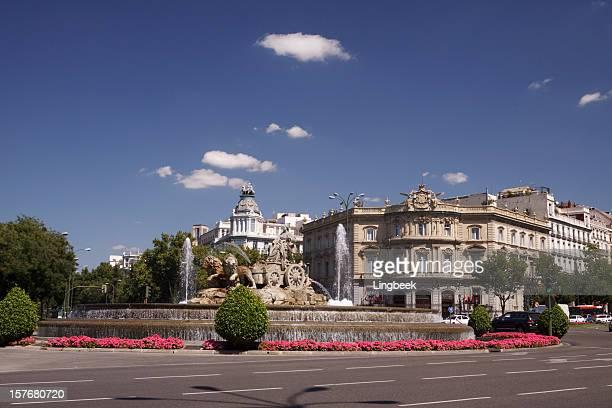 Plaza de Cibeles, en Madrid, España