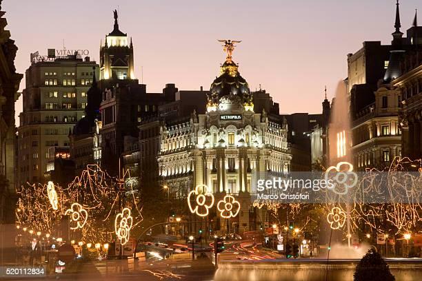 Plaza de Cibeles with Christmas Decorations