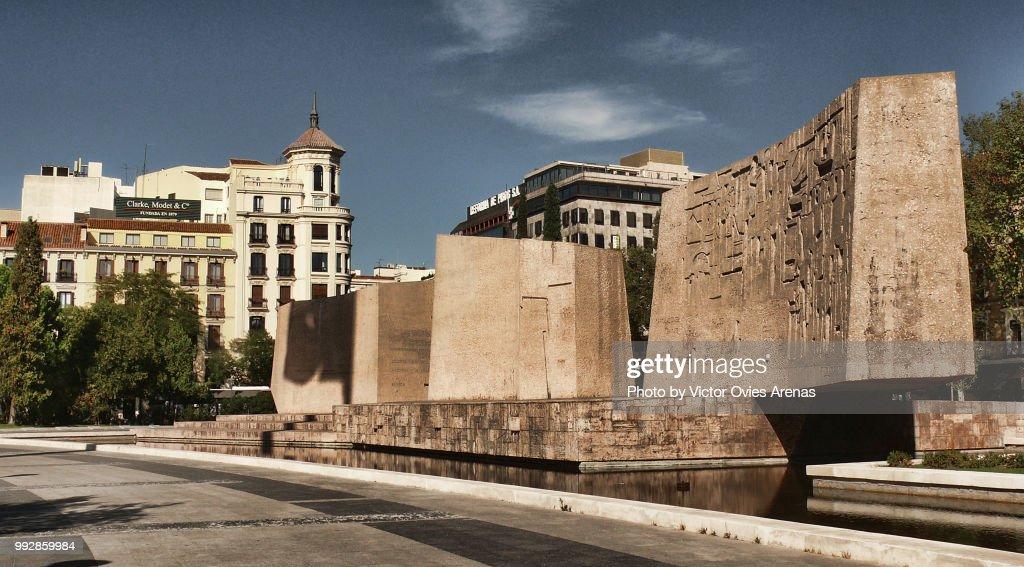 Plaza de Colon. Columbus Square, Madrid, Spain : Foto de stock
