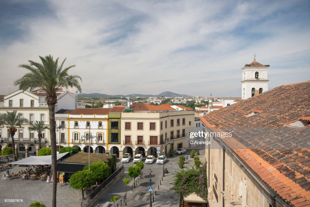 Plaza de España de Mérida : Foto de stock
