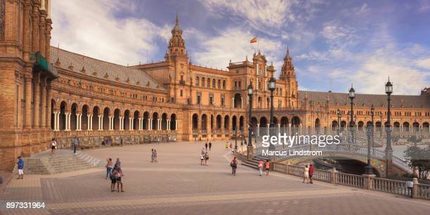 plaza de españa - seville stock pictures, royalty-free photos & images