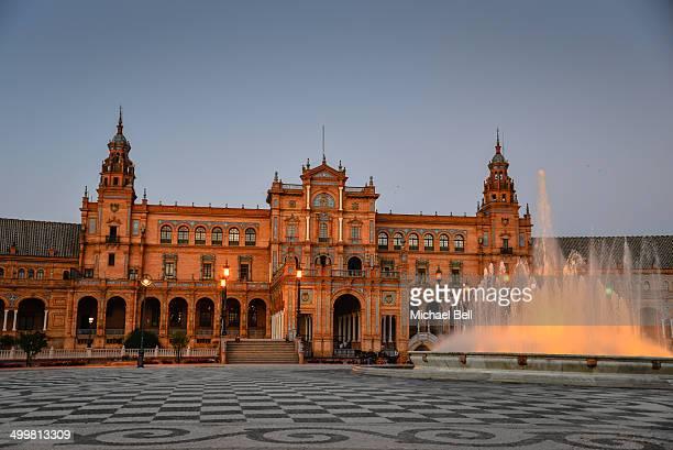 Plaza de España - Seville Spain at Night