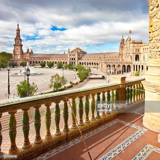 plaza de espana - seville stock pictures, royalty-free photos & images