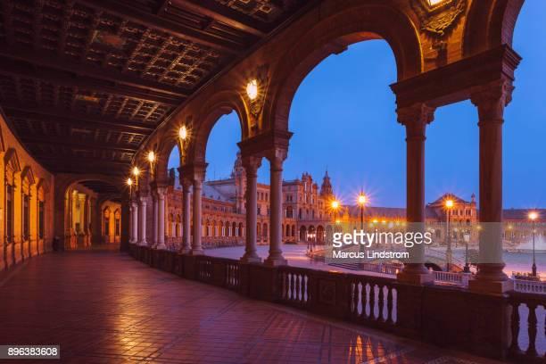 plaza de españa, naranjas - sevilla fotografías e imágenes de stock