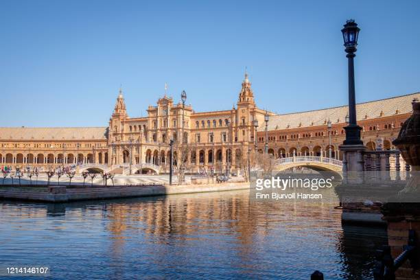 plaza de espana seville spain - finn bjurvoll stock pictures, royalty-free photos & images