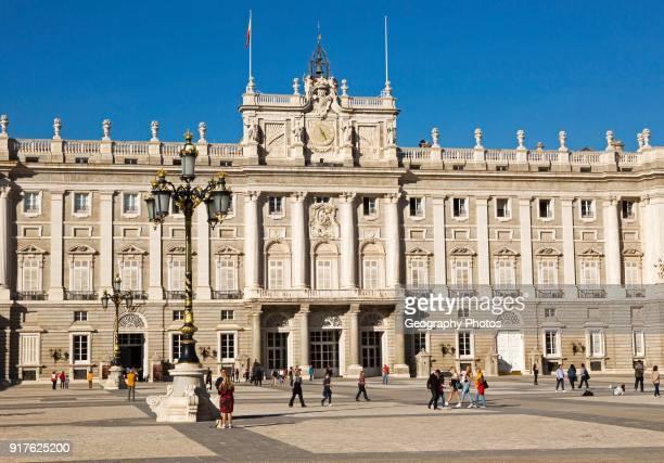 Plaza de la Armeria Armory Square Palacio Real royal palace Madrid Spain