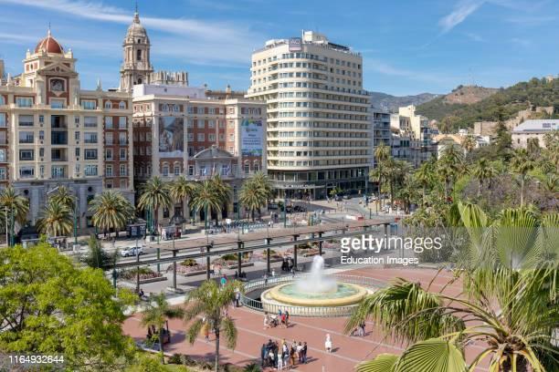 Plaza de la Marina, Malaga, Costa del Sol, Malaga Province, Andalusia, southern Spain.