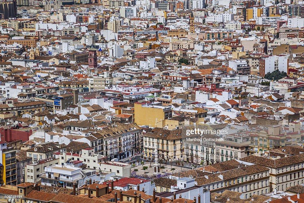 Plaza de la Merced Malaga : Stock Photo