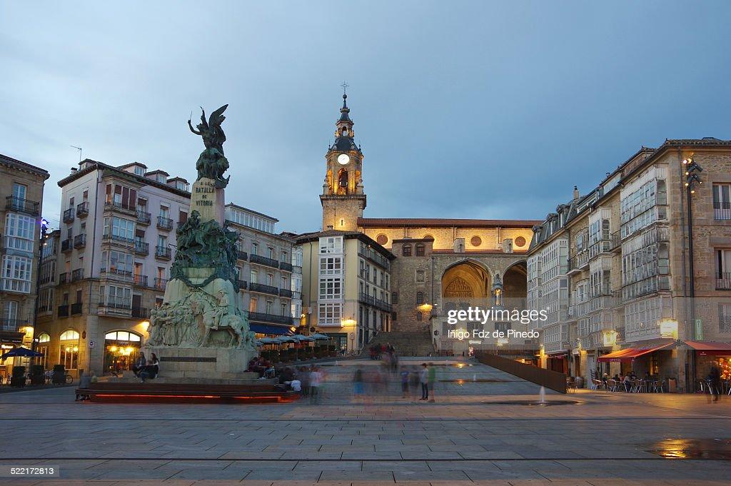 Plaza de la Virgen Blanca : Stock Photo
