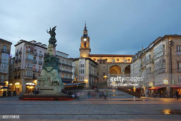 plaza de la virgen blanca - vitoria spain stock pictures, royalty-free photos & images