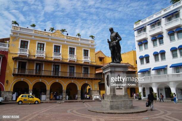 Plaza de los Coches and Statue of Pedro de Heredia, Cartagena , Colombia