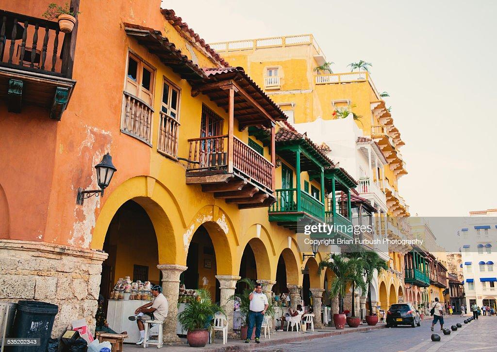 Plaza de los Coches, Cartagena, Colombia : Stock Photo