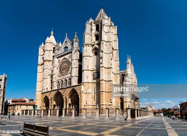 Plaza de Regla and Leon Cathedral, Spain