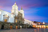 Plaza de San Francisco in old town Quito