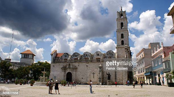 plaza de san francisco - convent stock photos and pictures