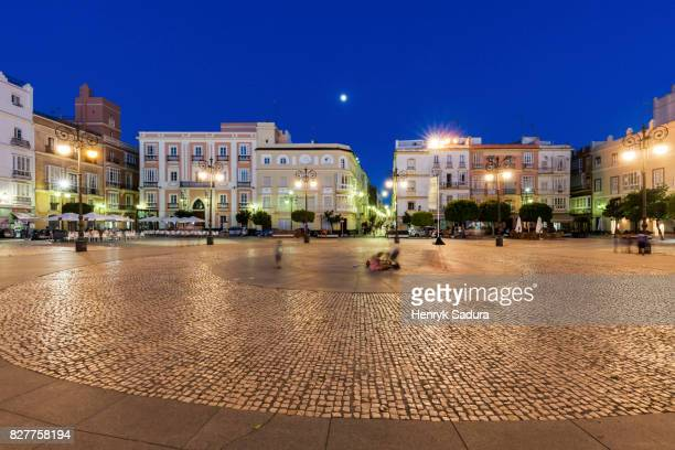 plaza del castillo in pamplona - pamplona stock photos and pictures