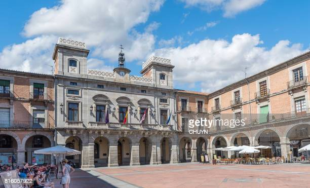 plaza del mercado chico of avila, spain - avila stock photos and pictures