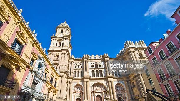 plaza del obispo, malaga, andalucia - malaga photos et images de collection