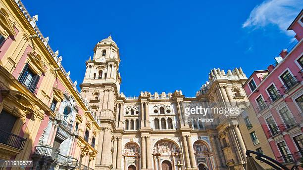 plaza del obispo, malaga, andalucia - málaga málaga province stock pictures, royalty-free photos & images