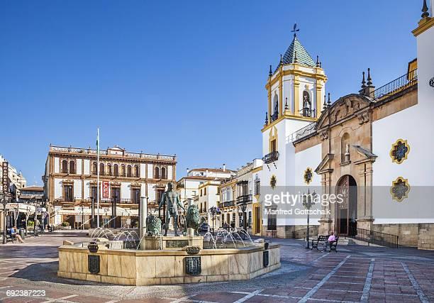 plaza del socorro ronda - ronda stock pictures, royalty-free photos & images