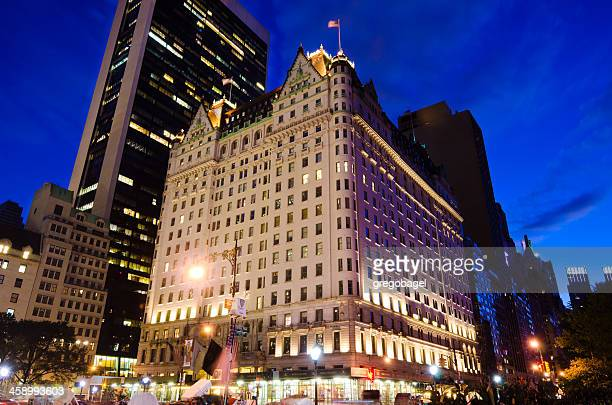 Plaza Hotel in New York City at night