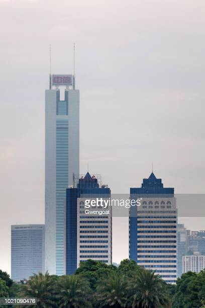 citic plaza in guangzhou - gwengoat stock pictures, royalty-free photos & images