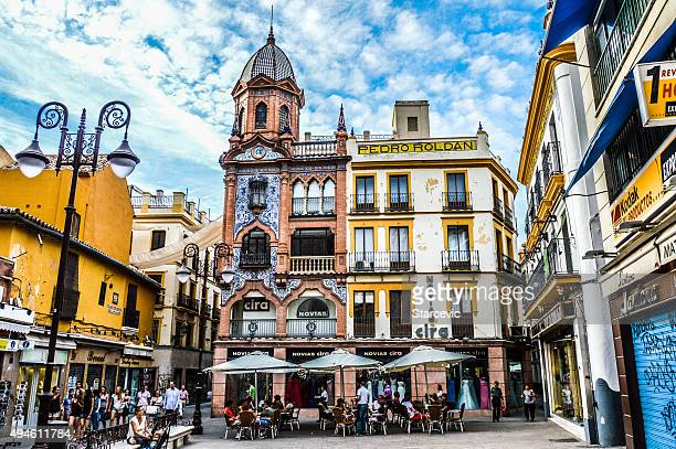 plaza in seville, spain - seville stock pictures, royalty-free photos & images
