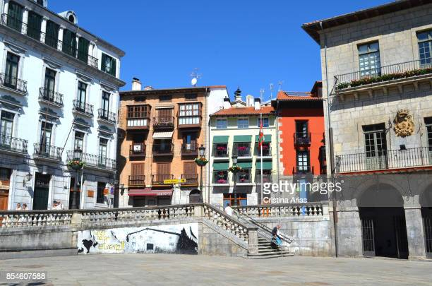 Plaza Independencia on Lekeitio, on 18 June 2017, Vizcaya, Basque Country, Spain.