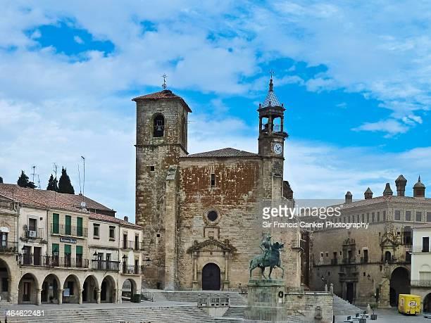 Plaza Mayor and St. Martin church, Trujillo, Spain