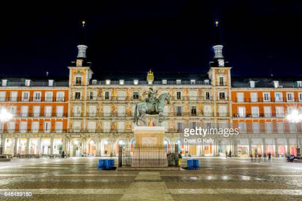 Plaza Mayor at Night, Madrid