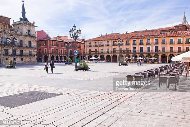 Plaza Mayor in Leon, Spain